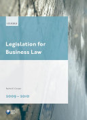 Legislation for Business Law 2009 2010