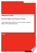 Human Rights And Human Norms