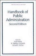 Handbook of Public Administration  Second Edition