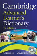 Cambridge Advanced Learner s Dictionary with CD ROM