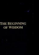 The Beginning of Wisdom ebook