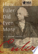 How Euler Did Even More Book
