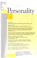 Journal of Personality Book