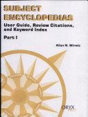 Subject Encyclopedias  User guide  review citations