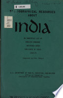 Bibliographical Resources About India