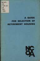 A Guide for Selection of Retirement Housing