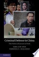 Criminal Defense in China