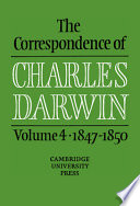 The Correspondence of Charles Darwin: 1847-1850
