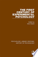 The First Century of Experimental Psychology