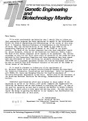 Genetic Engineering and Biotechnology Monitor