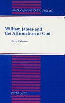 William James And The Affirmation Of God