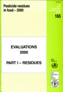 Pesticide Residues in Food - 2000