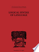 Logical Syntax of Language Book