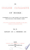 The English Catalogue of Books: v. [1]. 1835-1863