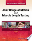 Joint Range of Motion and Muscle Length Testing   E Book