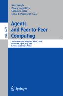 Agents and Peer-to-Peer Computing: 5th International Workshop, AP2PC ...