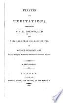 Prayers And Meditations Book