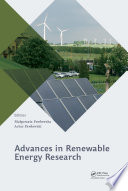 Advances in Renewable Energy Research Book