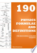 Physics Formulae And Definitions For High School & College Students