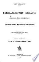 Parliamentary Debates  House of Representatives