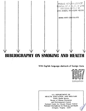 Download Bibliography on Smoking and Health PDF