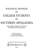 Political Profiles Of College Students In Southern Appalachia