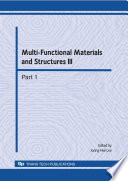 Multi Functional Materials And Structures Iii Book PDF