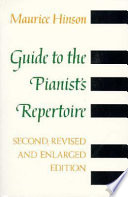Guide To The Pianist S Repertoire Third Edition Book