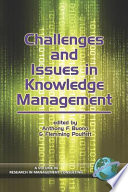Challenges And Issues In Knowledge Management Book PDF