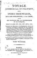 Voyage commercial et politique aux Indes Orientales, aux îles Philippines, à la Chine