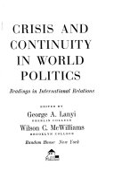 Crisis and Continuity in World Politics