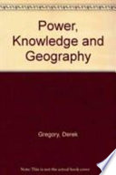 Power Knowledge and Geography