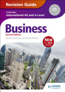 Books - AS And A Level Business Revision Guide | ISBN 9781471847707