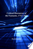 Critical Discourses of the Fantastic  1712 1831