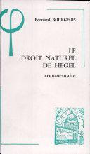 Le droit naturel de Hegel (1802-1803)