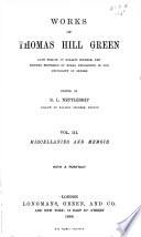 Miscellanies and memoir