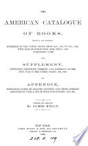 The American catalogue of books ... published in the United States from Jan. 1861, to Jan., 1866