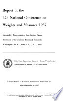 Report of the     National Conference on Weights and Measures