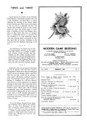 Modern Game Breeding and Hunting Club News