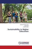 Sustainability in Higher Education Book
