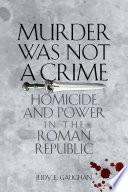 Murder Was Not a Crime Book