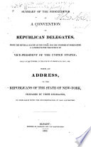 Summary of the proceedings of a convention. 1832