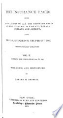 Fire Insurance Cases  1840 1848