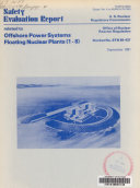 Safety Evaluation Report Related to Offshore Power Systems  Floating Nuclear Plants  1 8   Docket No  STN 50 437 Book
