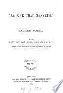 As one that serveth   poems