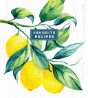 Deluxe Recipe Binder - Favorite Recipes (Lemons)