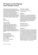 Norsk Geologisk Tidsskrift