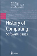 History of Computing: Software Issues