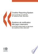 Creditor Reporting System 2009 Aid activities in support of agriculture