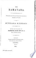 The Ramayana  Sundara k  ndam  1892